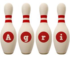 Agri bowling-pin logo