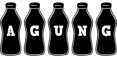 Agung bottle logo