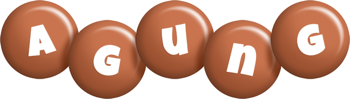 Agung candy-brown logo