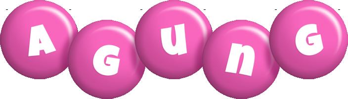 Agung candy-pink logo