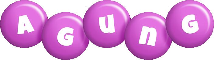 Agung candy-purple logo