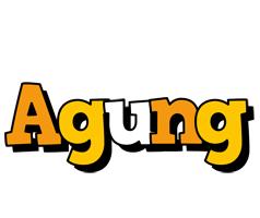 Agung cartoon logo