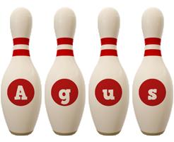 Agus bowling-pin logo