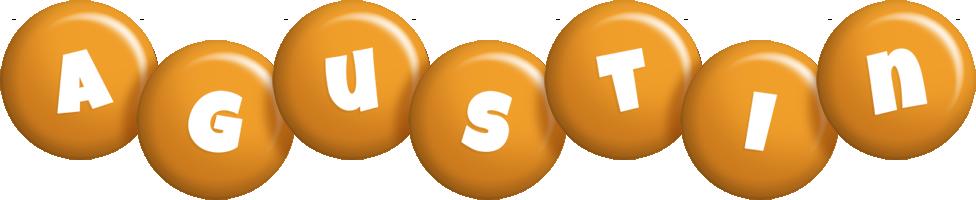 Agustin candy-orange logo