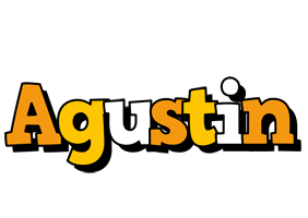 Agustin cartoon logo