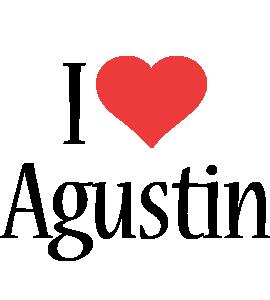 Agustin i-love logo