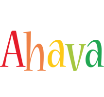 Ahava birthday logo