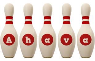 Ahava bowling-pin logo