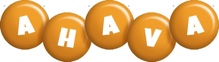 Ahava candy-orange logo
