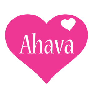 Ahava love-heart logo
