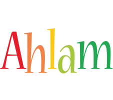 Ahlam birthday logo