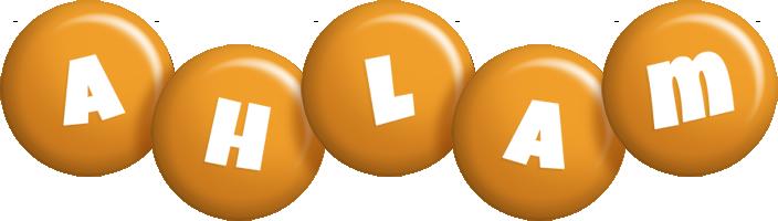 Ahlam candy-orange logo