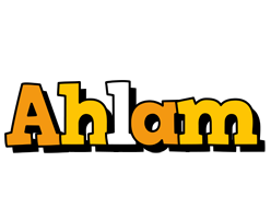 Ahlam cartoon logo