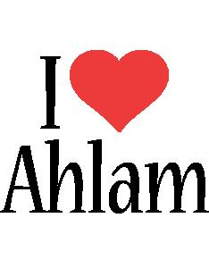 Ahlam i-love logo