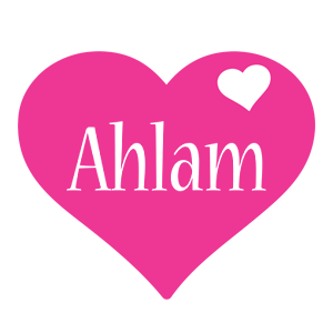 Ahlam love-heart logo