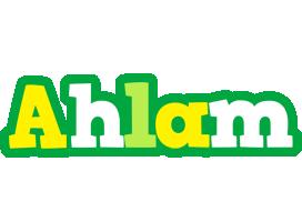 Ahlam soccer logo
