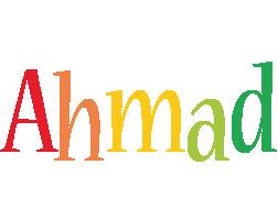 Ahmad birthday logo