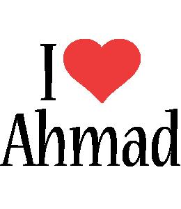 Ahmad i-love logo