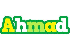 Ahmad soccer logo