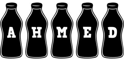 Ahmed bottle logo