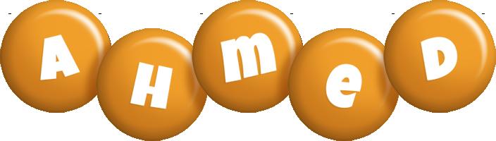 Ahmed candy-orange logo