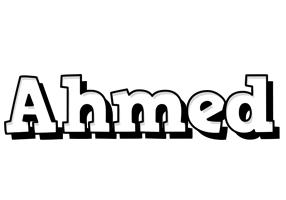 Ahmed snowing logo
