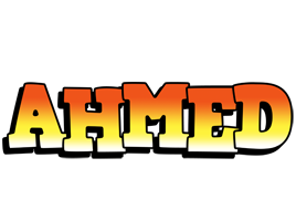 Ahmed sunset logo