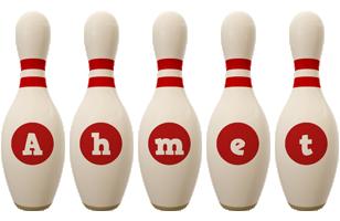 Ahmet bowling-pin logo