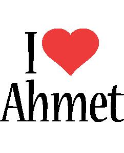 Ahmet i-love logo