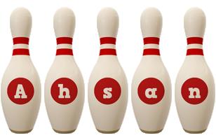 Ahsan bowling-pin logo