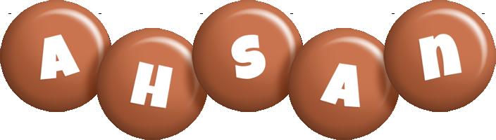 Ahsan candy-brown logo