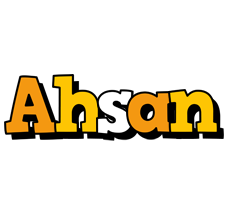 Ahsan cartoon logo