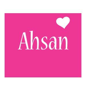 Ahsan love-heart logo