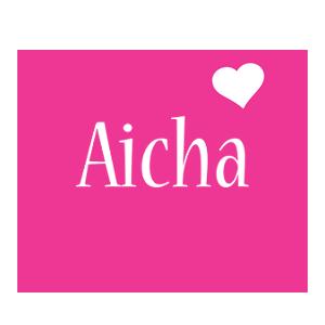 Aicha love-heart logo