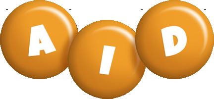 Aid candy-orange logo