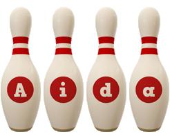 Aida bowling-pin logo
