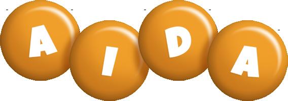 Aida candy-orange logo