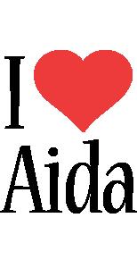 Aida i-love logo