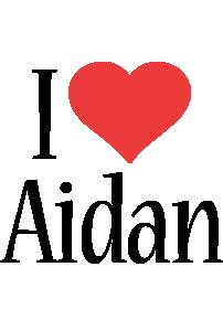 Aidan i-love logo