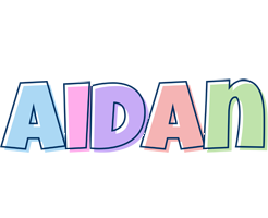 Aidan pastel logo