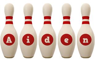 Aiden bowling-pin logo