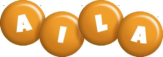Aila candy-orange logo