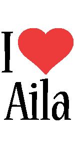 Aila i-love logo