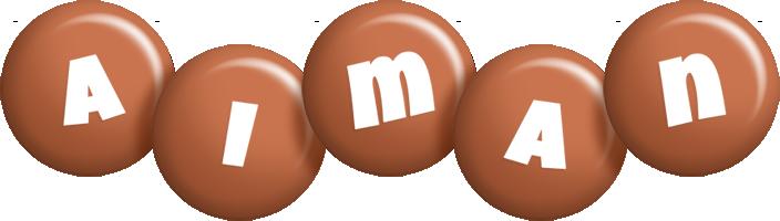 Aiman candy-brown logo
