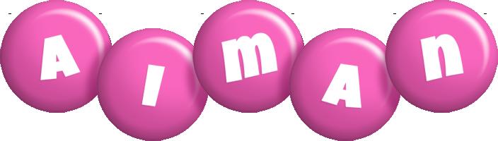 Aiman candy-pink logo