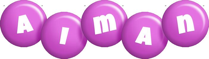 Aiman candy-purple logo