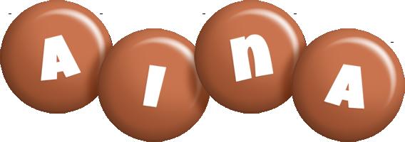 Aina candy-brown logo