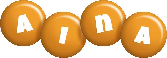 Aina candy-orange logo