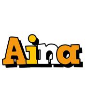Aina cartoon logo