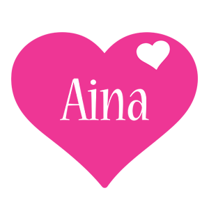 Aina love-heart logo